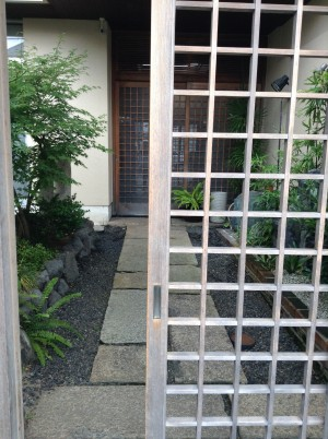 Kyoto modern house gate